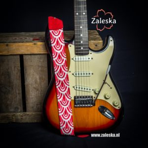 Gitaarband Red & White